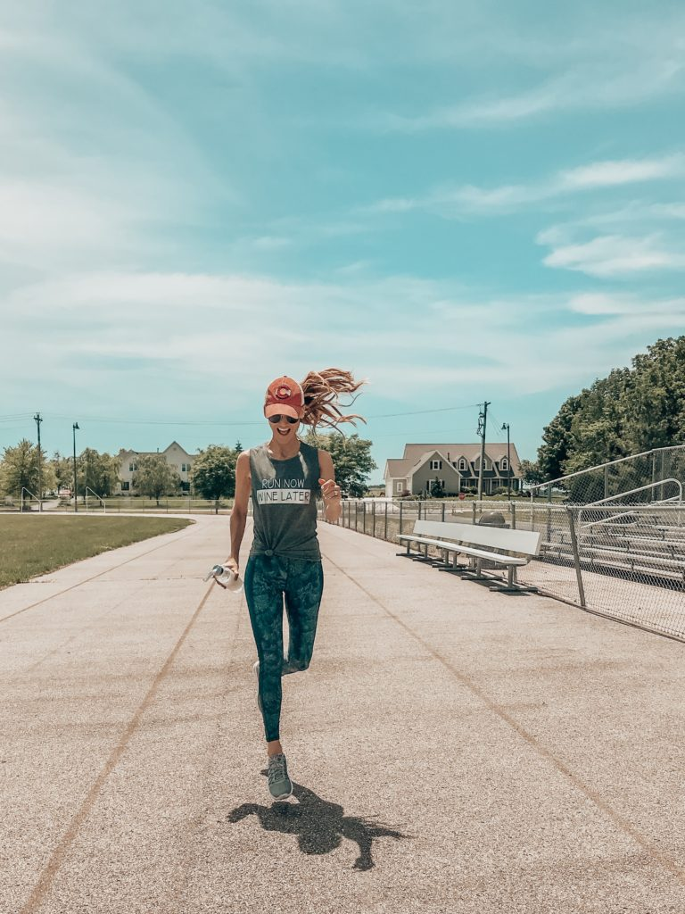 sweaty betty work out clothes - Summer Graphic Tees + Life Update featured by popular Indianapolis style blogger, Karina Style Diaries