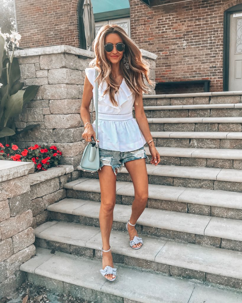 Kate Spade Flounce top Karina Reske | Instagram Fashion Summer Roundup featured by popular Indianapolis fashion blogger, Karina Style Diaries