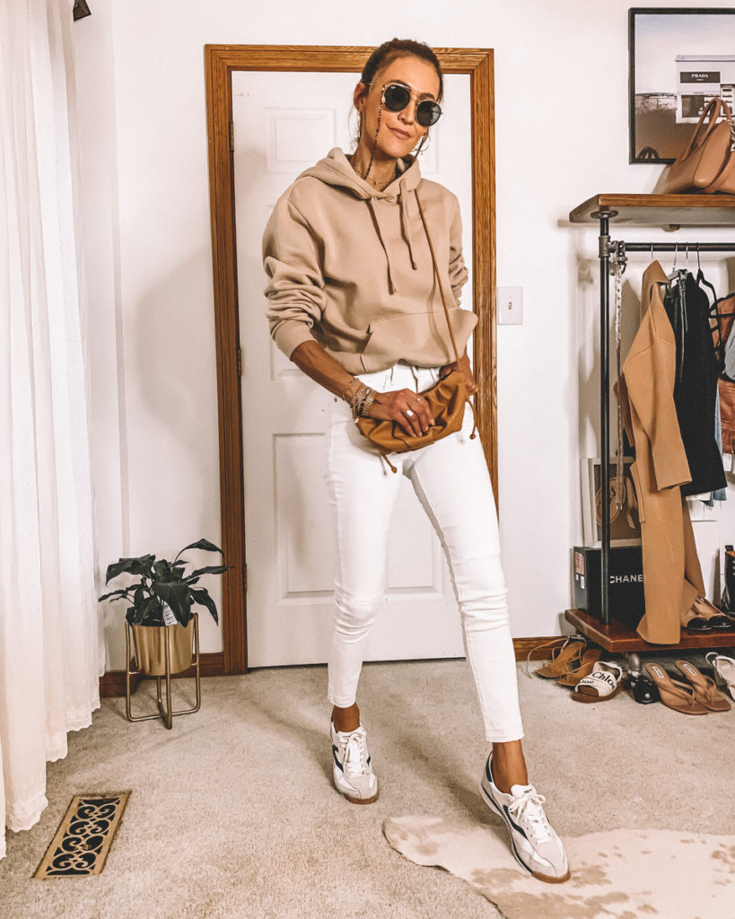 7 ways to style a tan hoodie street style