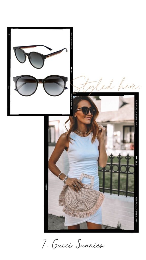 Gucci 55 mm round sunglasses outfit