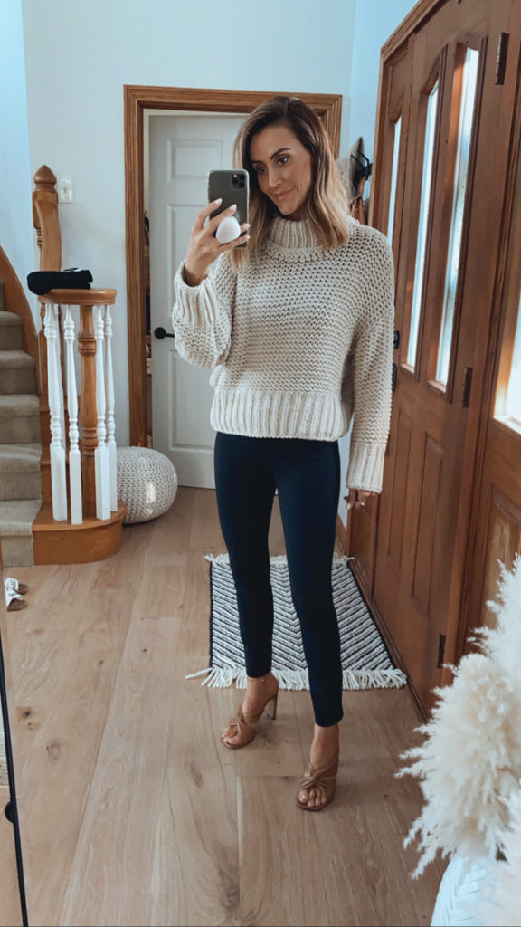Free People my only sunshine sweater spanx