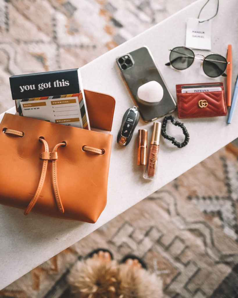 Mansur Gavriel Mini Mini Lady bag size